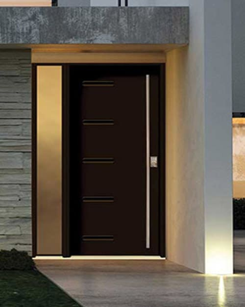 Modern brown exterior doors are popular for Kelowna and Vernon homes
