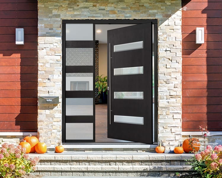 A modern front door will increase the curb appeal of your Okanagan home