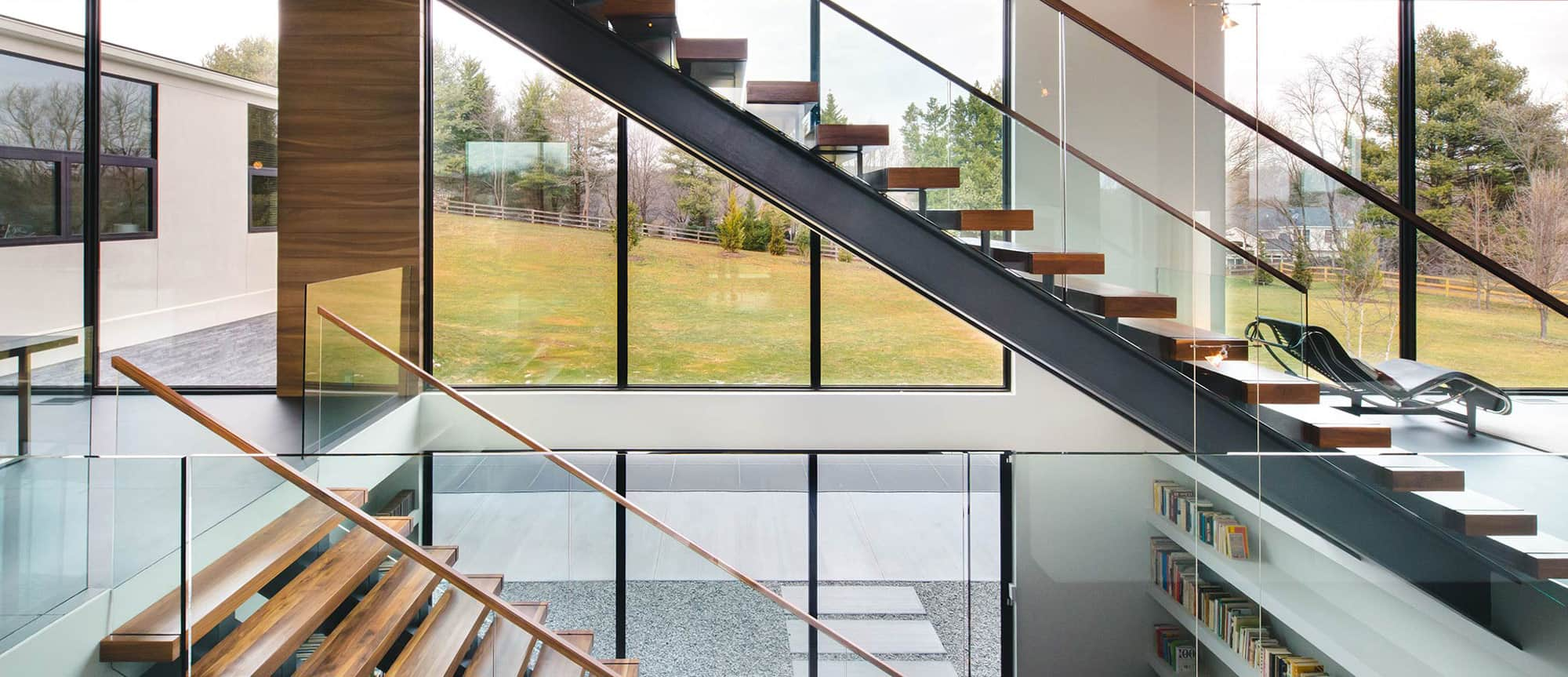 Window wall in an Okanagan home