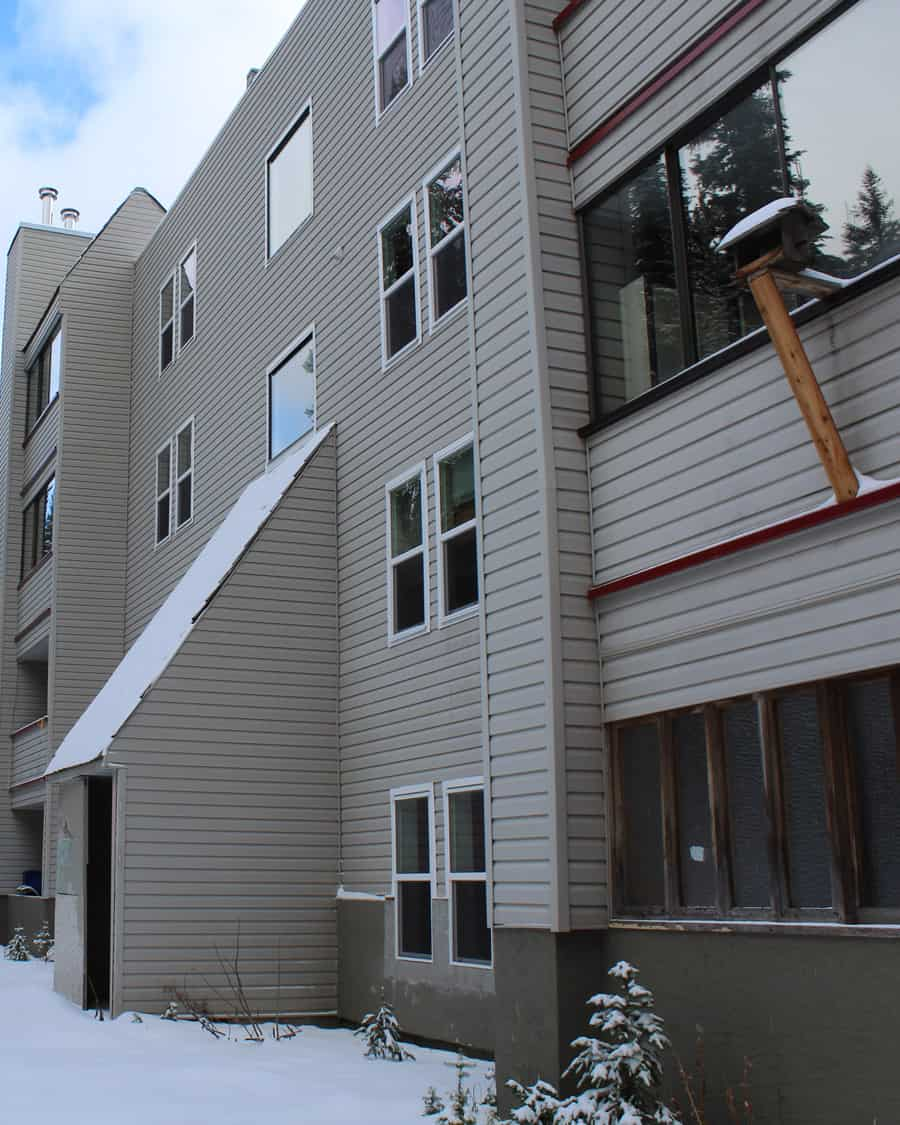 Updated windows at an apartment strata in Big White, Kelowna