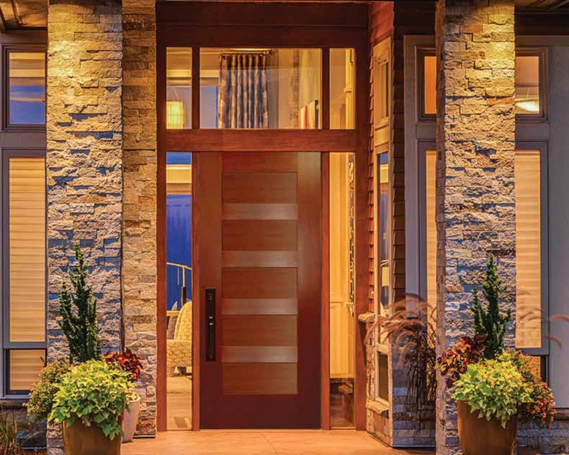 Enjoy door options such as a smooth finish, oak or fir grain, and a contemporary or rustic style.