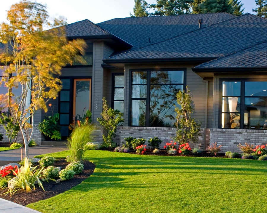 Black aluminum windows are great for Okanagan homes