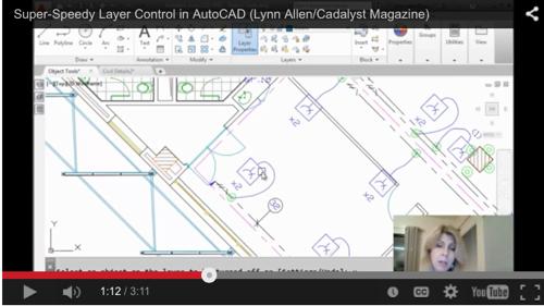 Super-Speedy layer control in AutoCAD from Lynn Allen – Cadalyst