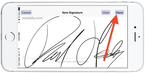 Sign Docs on your iPhone from Mail