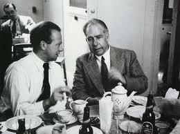 Werner Heisenberg and Niels Bohr.