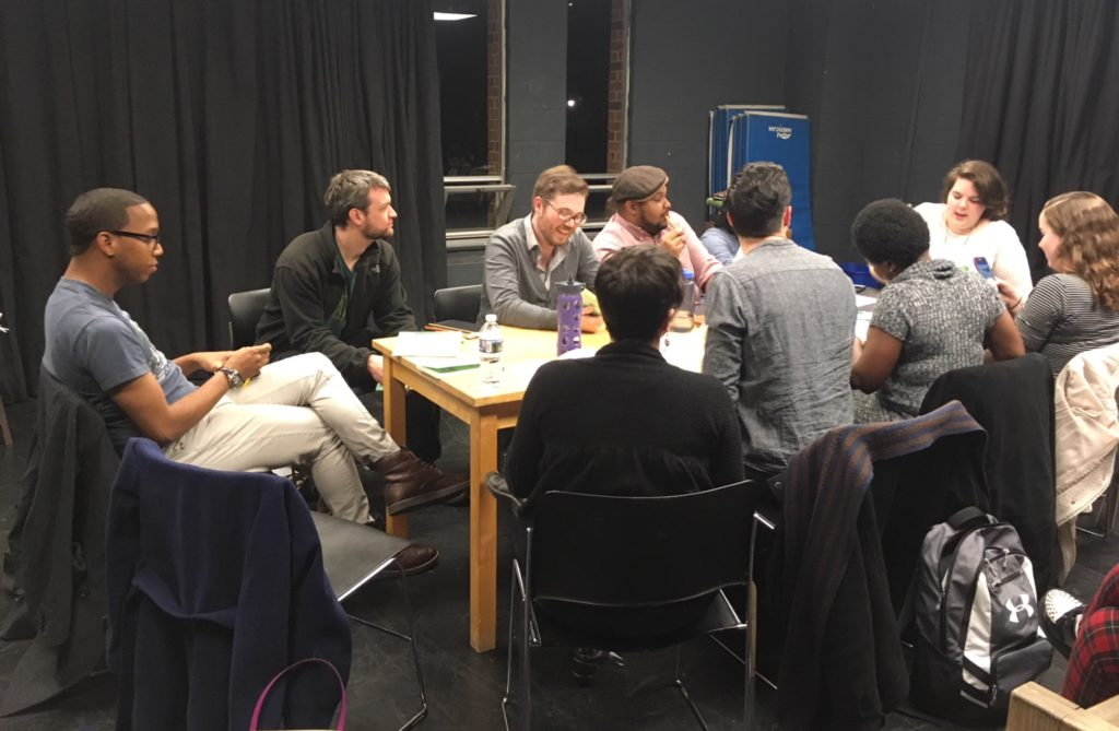 Tartuffe cast at the read-through