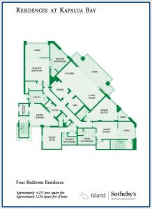 Montage Residences Kapalua Bay Four Bedroom Floor Plan