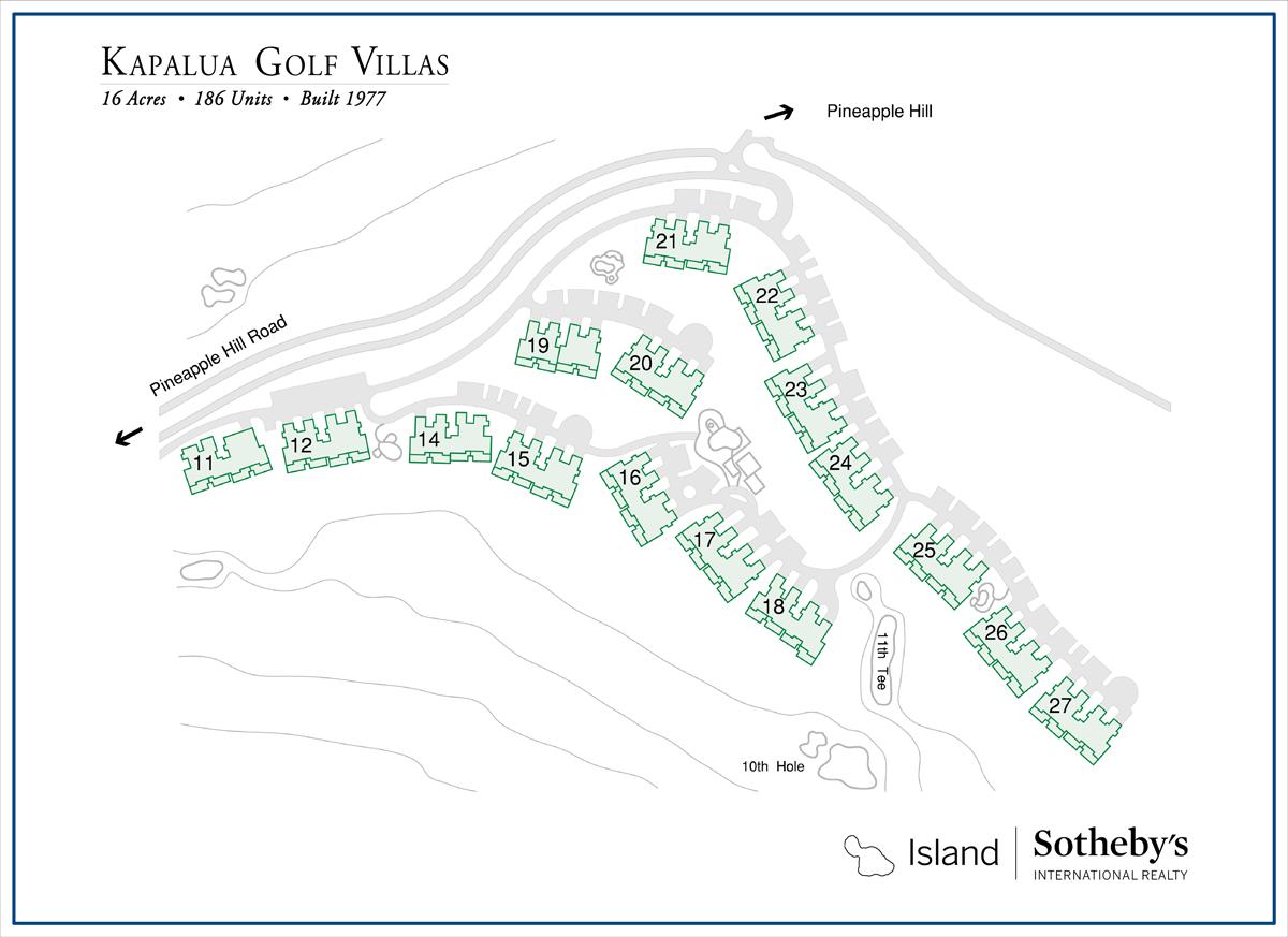Map of the Kapalua Golf Villas