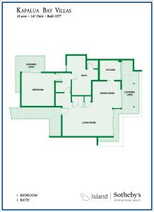 Kapalua Bay Villas 1B Floor Plan