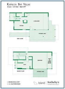 Kapalua Bay Villas 1B Townhouse Floorplan