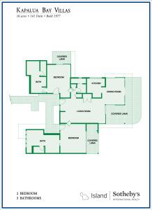 Kapalua Bay Villas 2B Floor Plan