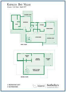 Kapalua Bay Villas 2B Townhouse Floor Plan