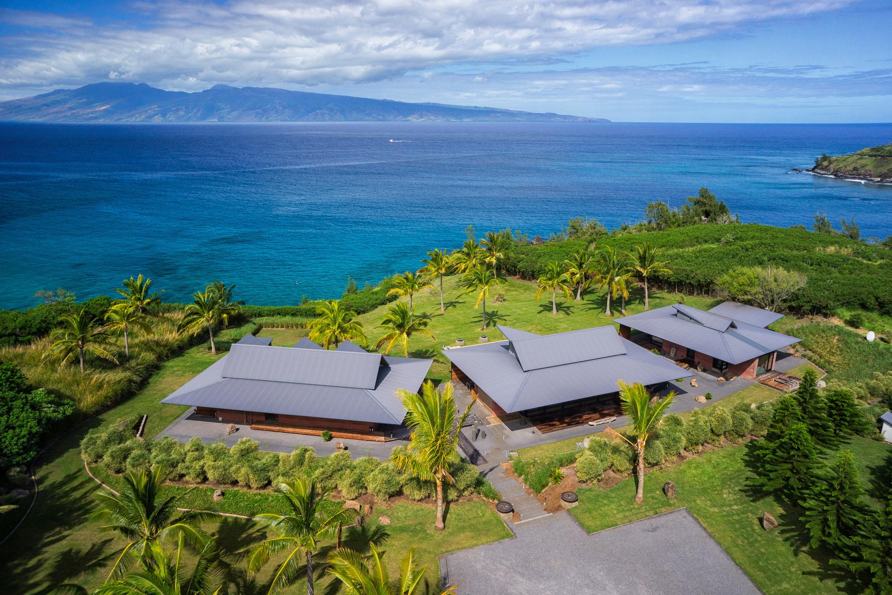 Honolua Bay Kapalua House for Sale Aerial