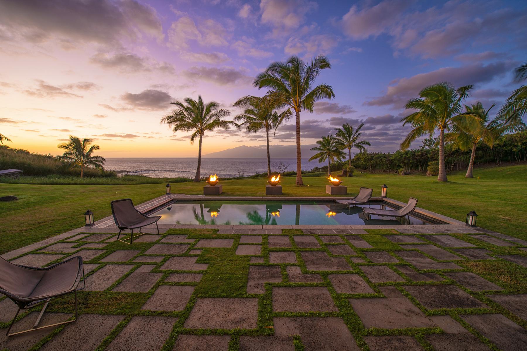 Honolua Bay Kapalua House for Sale Peter Lik Pool