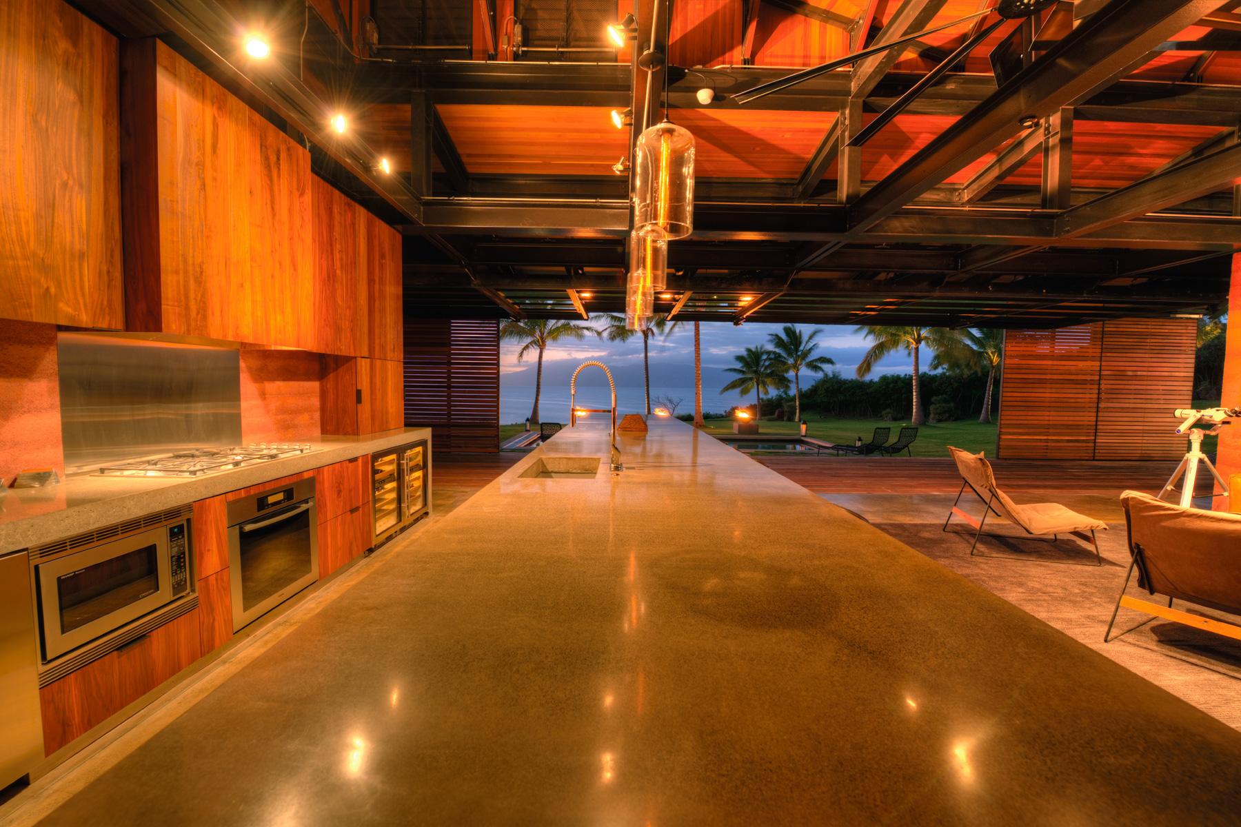 Honolua Bay Kapalua House for Sale Peter Lik Kitchen