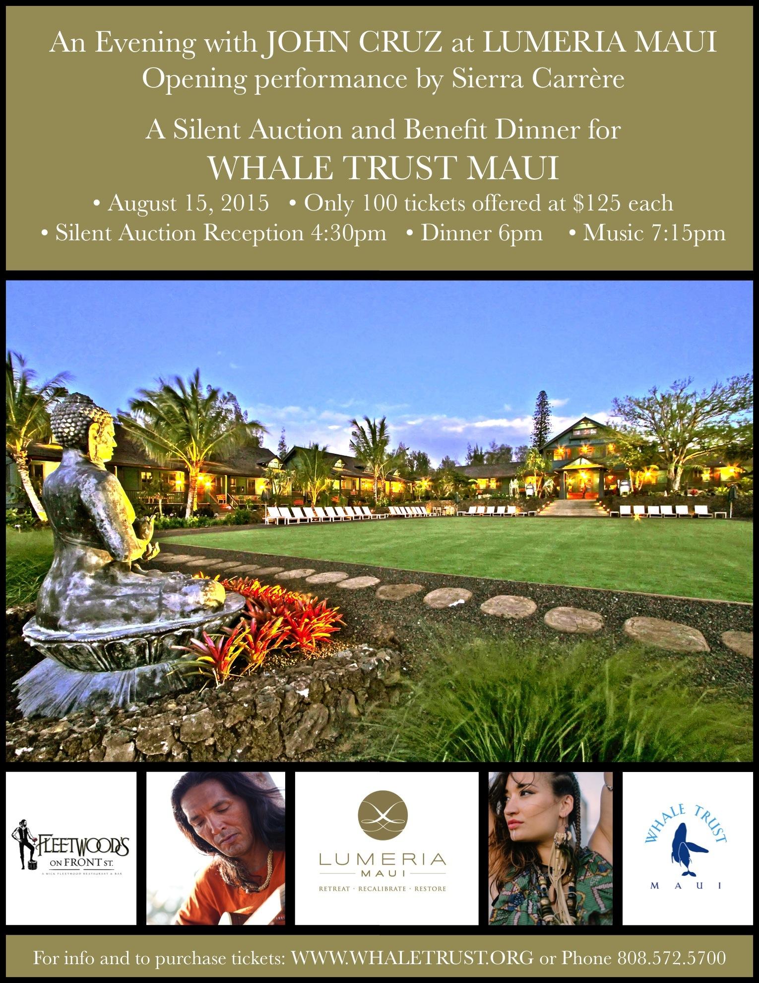 John Cruz Whale Trust Event