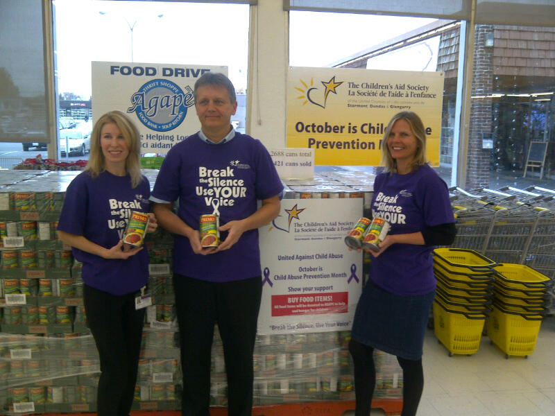Purple Ribbon's campaign to end Child Hunger = success