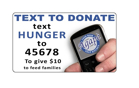 Donate the price of lunch for one day to help feed a family for a week!