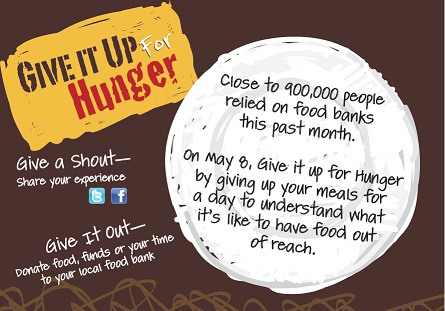 Hunger Awareness Week: May 06-10 Give it Up…for Hunger