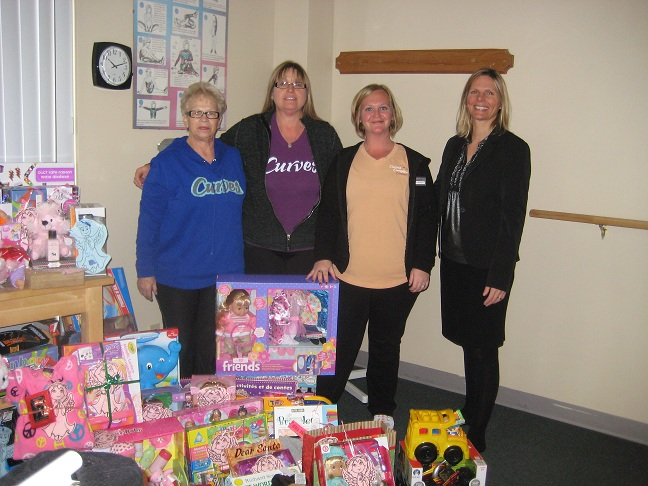 Collecting on children's behalf – way to go Curves!