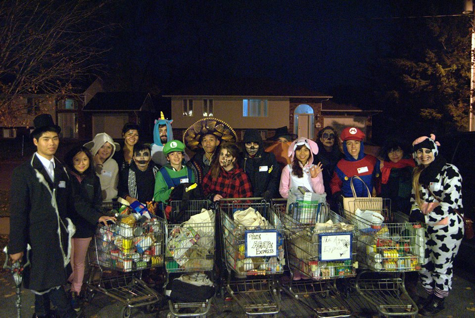 Canada World Youth goes Trick-or-Eating