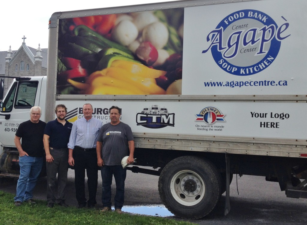 Our truck has a fresh look – with space for sponsorships