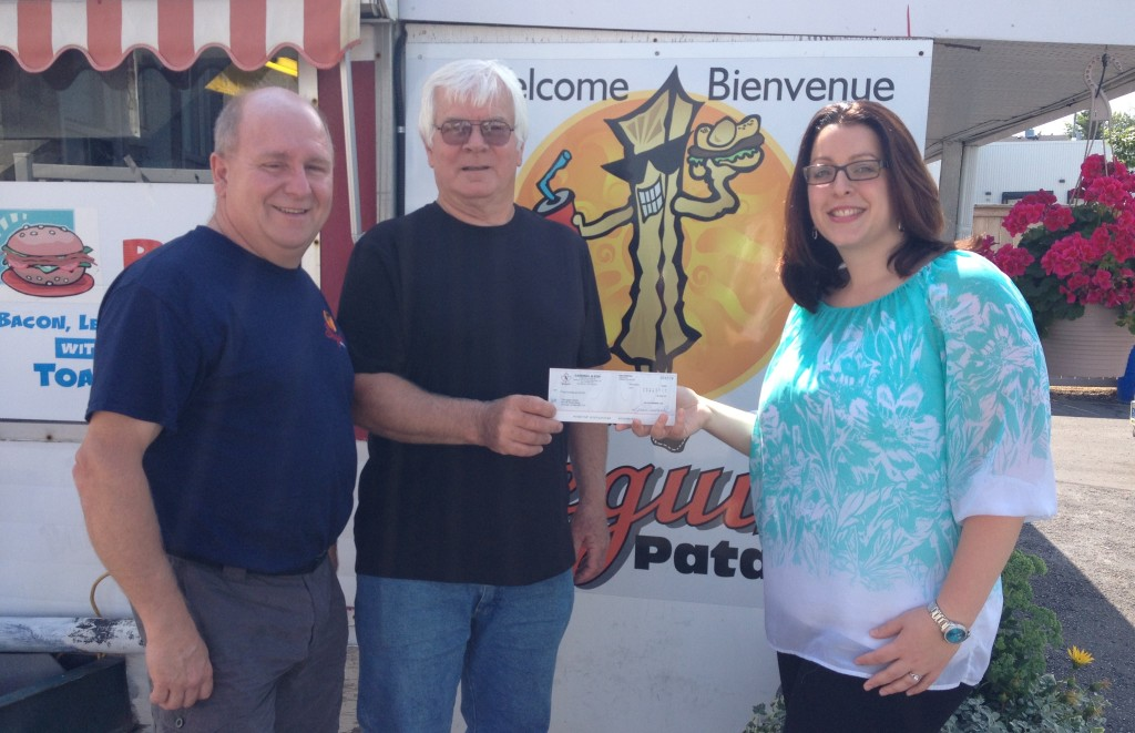 Hot dog days raised $950 for the Agapè Centre