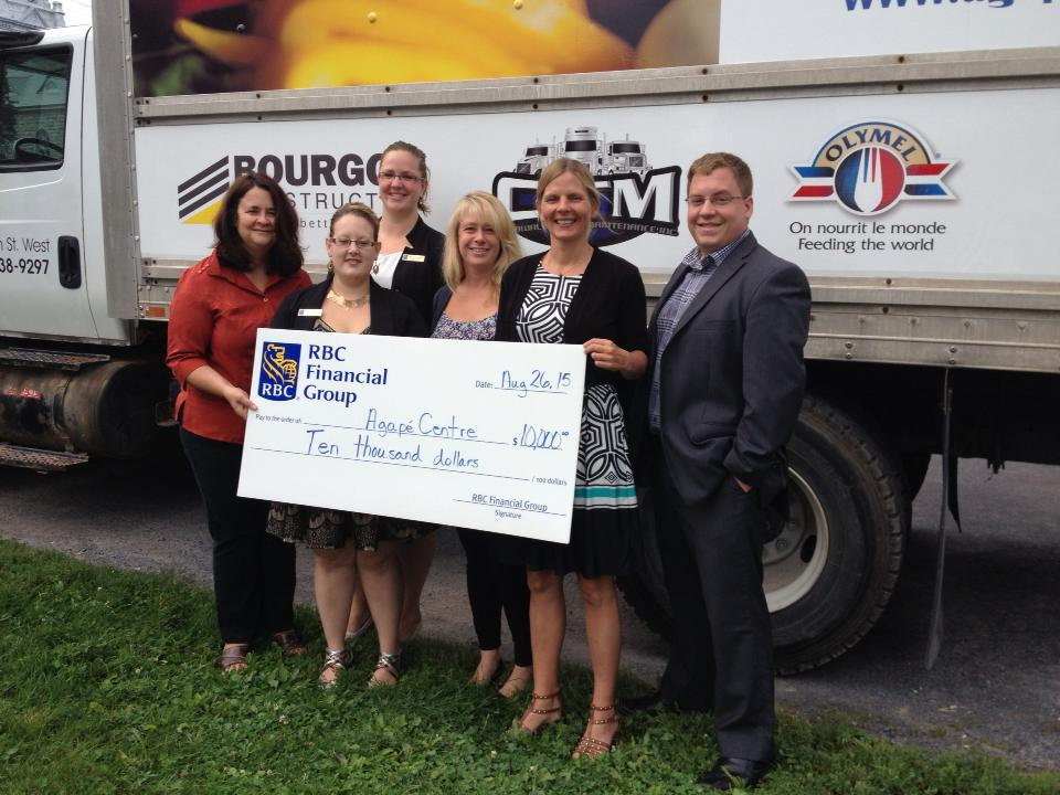 RBC Donates $10,000 to the Agapè Centre