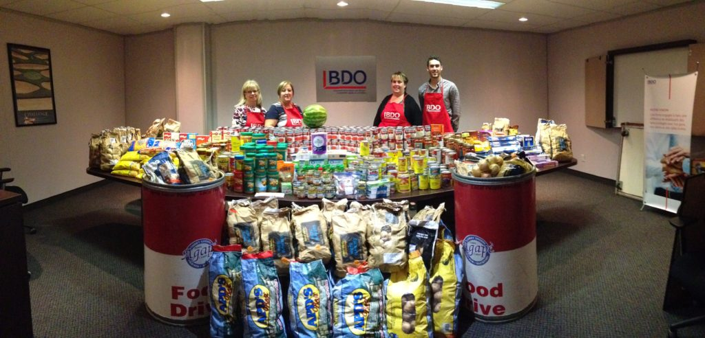BDO Cornwall collects 2,580 lbs of food