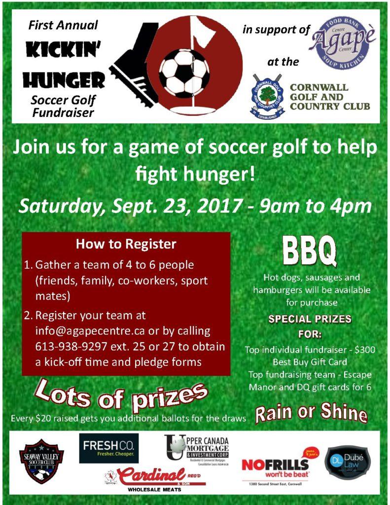 New Date-Kickin' Hunger Soccer Golf Fundraiser