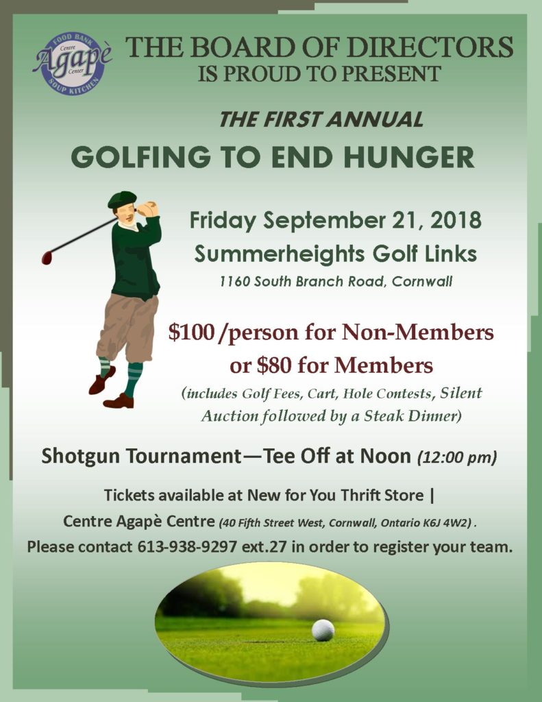 Our 1st Annual Golf Tournament is happening soon!!!