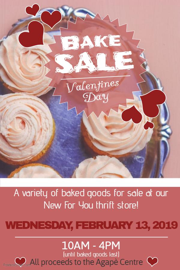 Agapè's Pre-Valentine's Day Bake Sale !