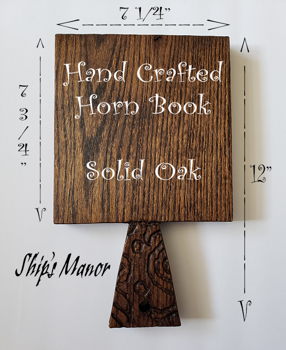 Hand Crafted Oak Horn Book