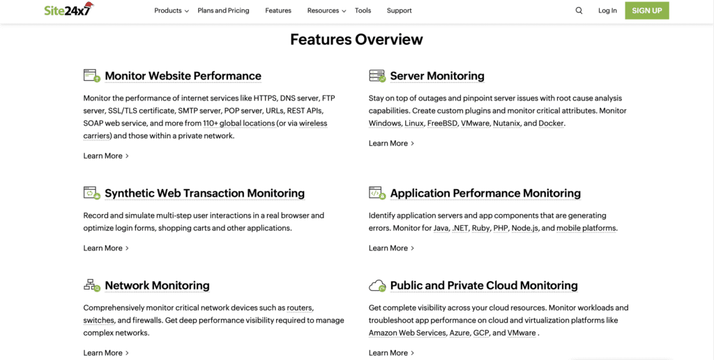 Site24x7 - Website Uptime Monitoring Tool