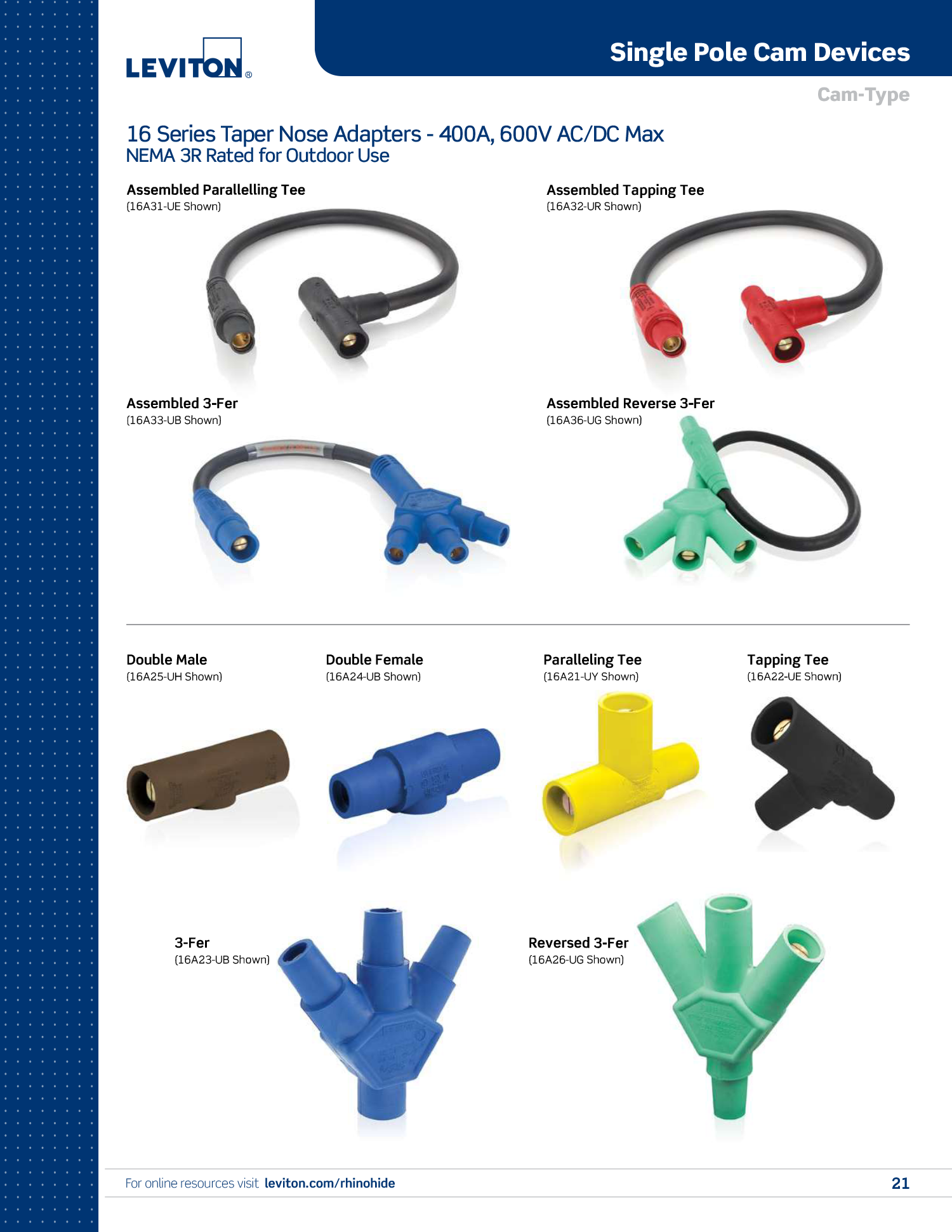 Single Pole Cam Accessories