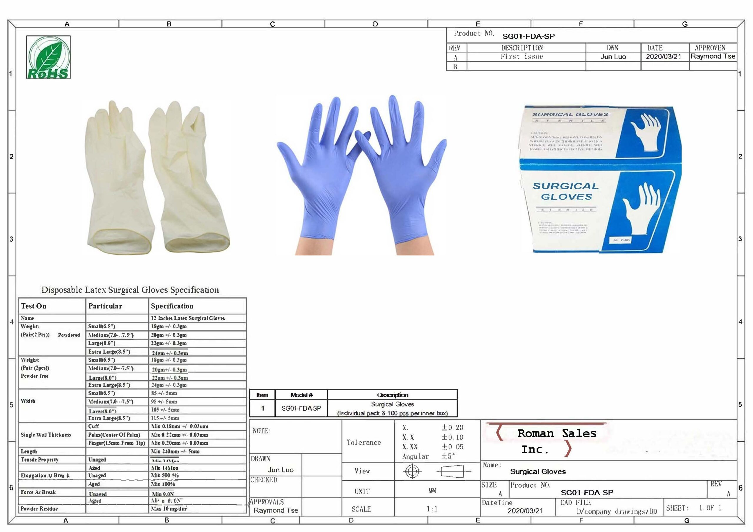 Surgical Grade Surgical Gloves
