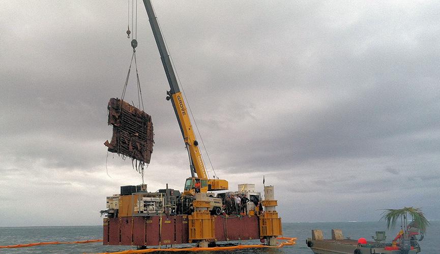 Palmyra Atoll Jack Up Debris Removal