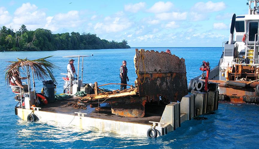 Curtin Maritime - Power Scow - Palmyra Atoll