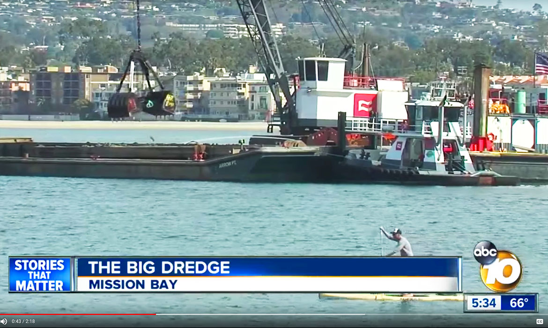 Dredging Eelgrass Restoration Mission Bay Dredge