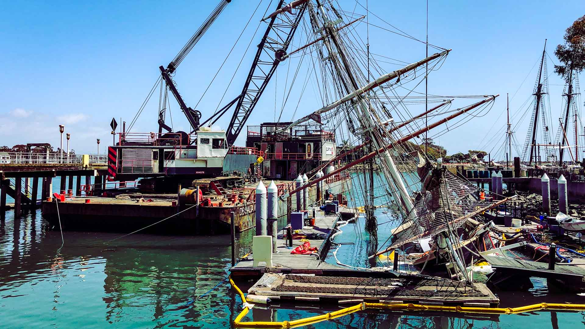 Pilgrim Tall Ship Salvage Vessel Demolition