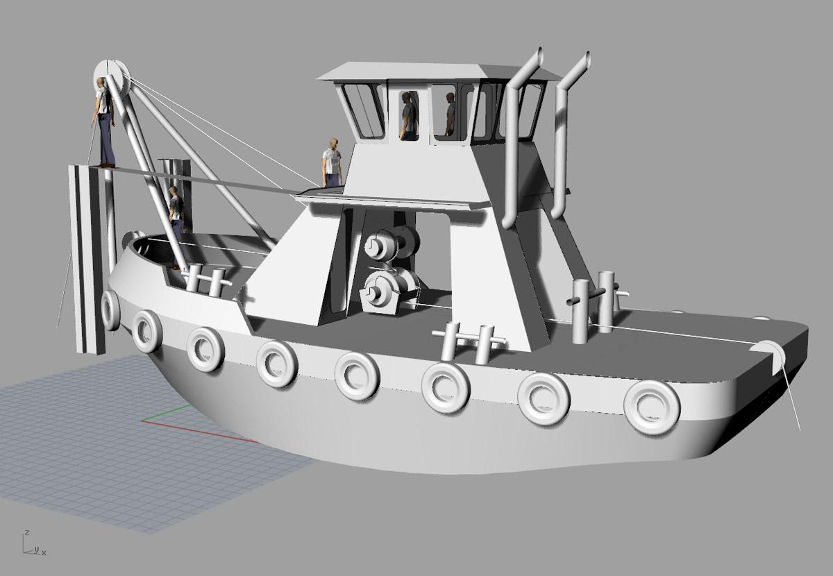 Vessel Design Build Engineering Fabrication Tugboat 45 x20 Workboat Curtin Maritime Bernardine C