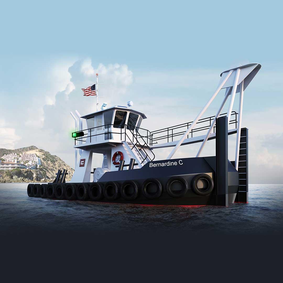 Vessel Design Build Fabrication - Tugboat Bernardine C