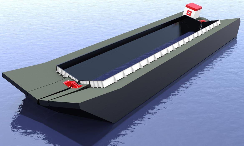 Dump Scow Curtin Maritime Marine Construction Services