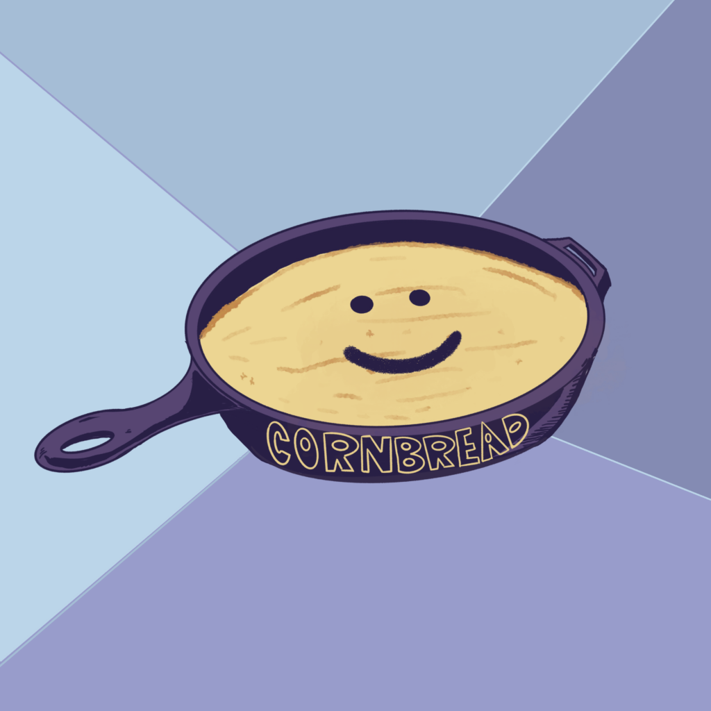 Oakhurst Georgia Design and Illustration of happy cornbread