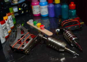 Tattoo Machines with Ink