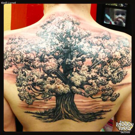 Tree Tattoo by Jeff Cornell