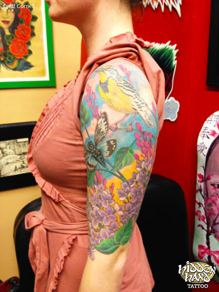 Nature Tattoo Sleeve by Jeff Cornell