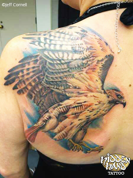 Shoulder Piece Tattoo by Jeff Cornell