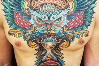 Tattoo Chest Piece by Sierra Colt