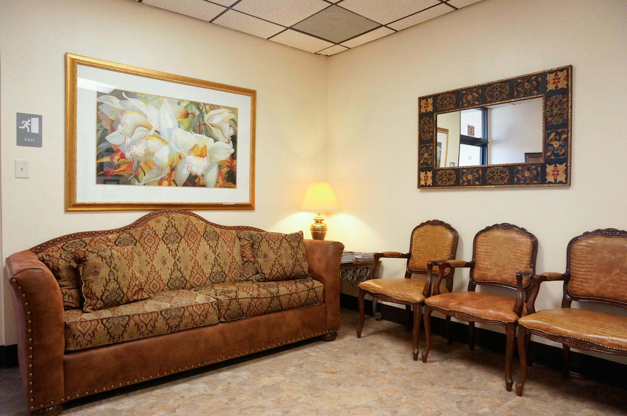 Seating Area at West Texas Plastic Surgery